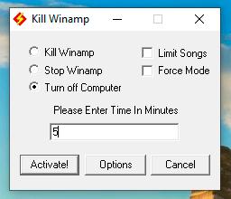 Winamp Timer